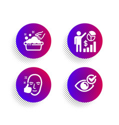 Seo statistics healthy face and hand washing vector