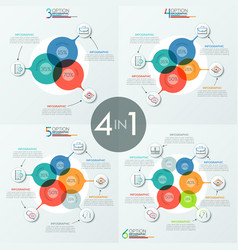 set of modern infographic design templates with 3 vector image