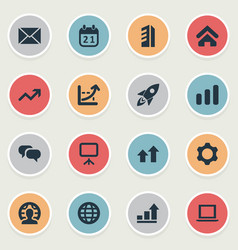 set of simple teamwork icons elements construction vector image