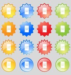 Sketchbook icon sign Big set of 16 colorful modern vector