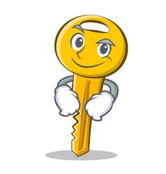 Smirking key character cartoon style vector
