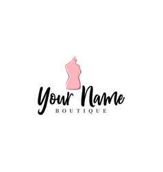 tailor mannequin vintage fashion retro logo vector image