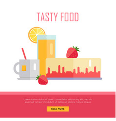 tasty food concept web banner vector image