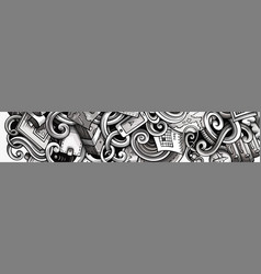 Travel hand drawn doodle banner cartoon detailed vector