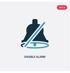 two color disable alarm icon from user interface vector image