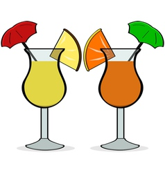 Umbrella drinks vector image