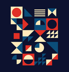 vintage mid-century modern poster design vector image