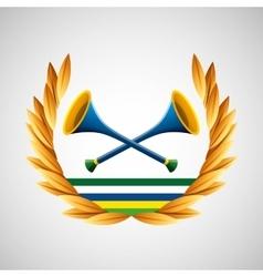 Vuvuzela olympic games emblem vector