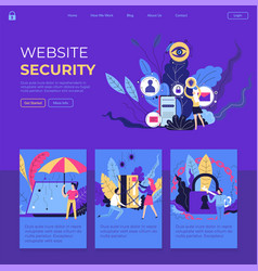 website security internet page with information vector image