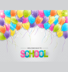 Welcome back to school colorful bright background vector