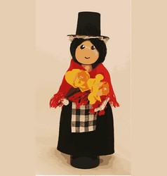 Welsh cloths pin doll vector