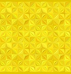 Yellow geometric stripe mosaic pattern background vector