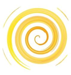 yellow watercolor spiral vector image