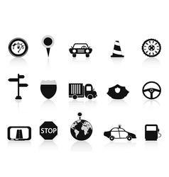 black traffic icon vector image vector image