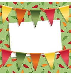 chili pepper decoration vector image
