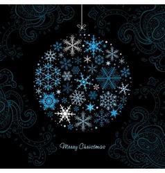Christmas ball of the Snowflakes vector image vector image
