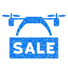 drone sale banner grunge icon vector image