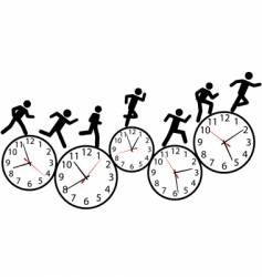 hurry illustration vector image vector image