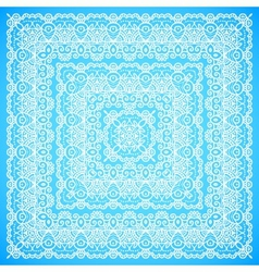 Ornate lacy blue and white ornament vector image vector image