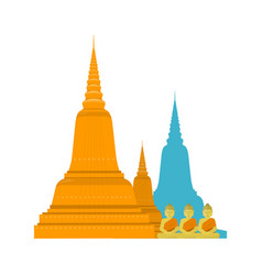 thailand templ with buddha vector image