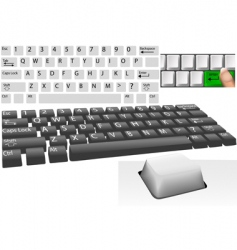 computer keys and keyboard vector image vector image