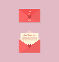 happy valentines day love letter vector image