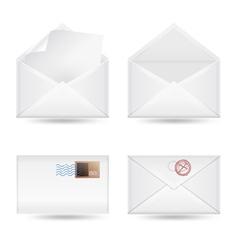 set of envelopes vector image vector image
