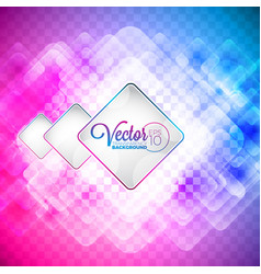 abstract color squares on transparent background vector image