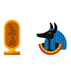 anubis icon isolated on white background ancient vector image