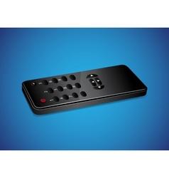 Black remote controller vector image
