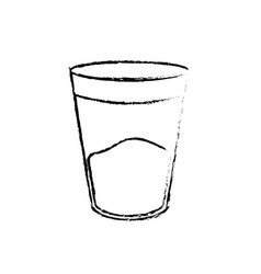 figure water glass to drink and fresh beverage vector image vector image