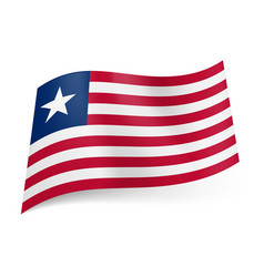 national flag of liberia red and white horizontal vector image vector image