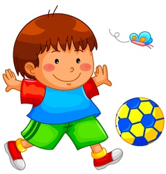 playing kid vector image vector image