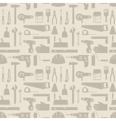 Seamless pattern with repair working tools icons vector image vector image