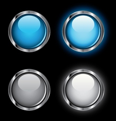 shiny rollover web buttons vector image vector image