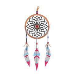 tribal decoration bohemian dreamcatcher boho vector image