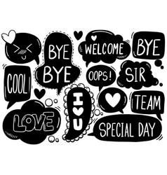 0038 hand drawn background set cute speech vector