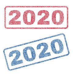 2020 textile stamps vector
