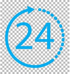 24 hours icon on transparent background 24 hours vector image