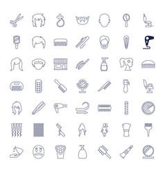 49 hair icons vector