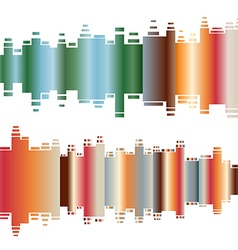 Abstract colorful gradient indicator set Abstrsct vector image