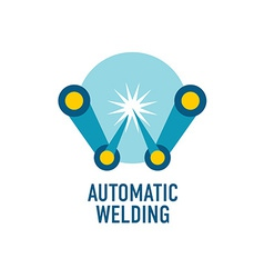 Automatic welding logo template Letter W vector image