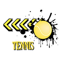 Background abstract tennis ball from blots vector