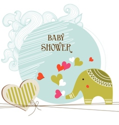bashower card template vector image