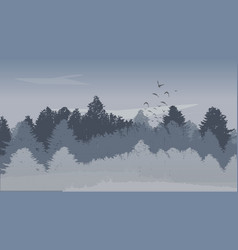beutiful winter landscape background with winter vector image