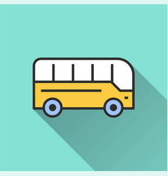 bus icon for graphic and web design vector image