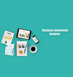 business analysis investment banner vector image