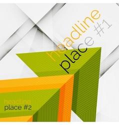 Business futuristic triangle composition vector image