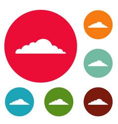 climate cloud icons circle set vector image