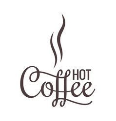 coffee logo on white background vector image